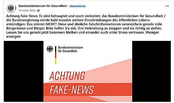Fake News von Spahn