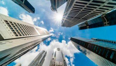 Finanzviertel in Singapur