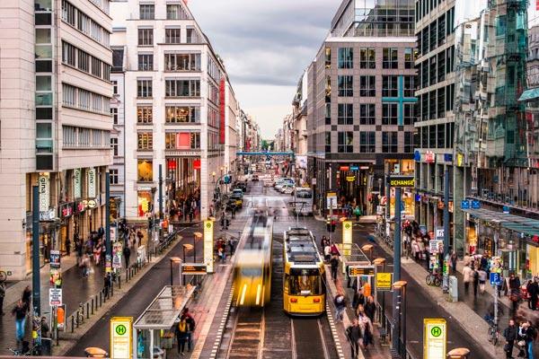 Strassenzug in Berlin