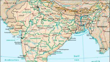 Indien_physisch-politische_Karte