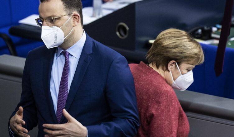Spahn und Merkel