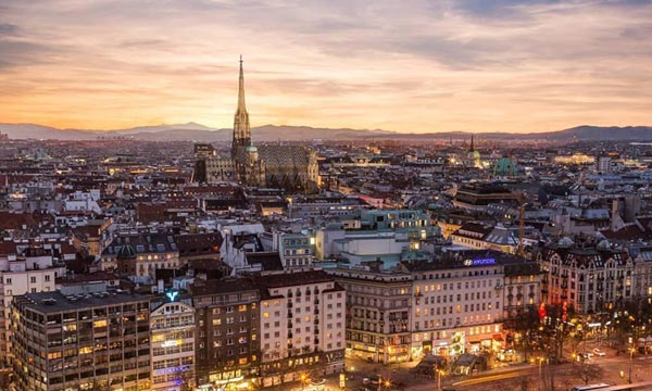 Wien Luftaufnahme Innere Stadt