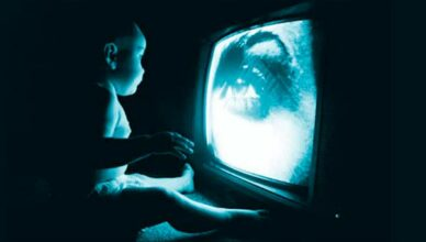 Baby watching Television