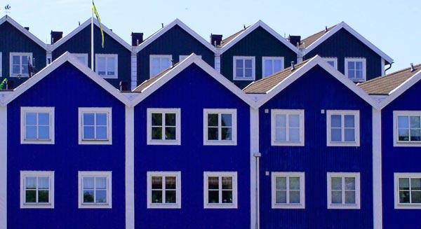 Schweden blaue Hauser
