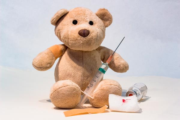 Tedybaer mit Impfung