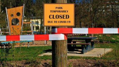 Park geschlossen