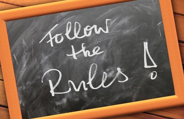 Befolge die Regeln