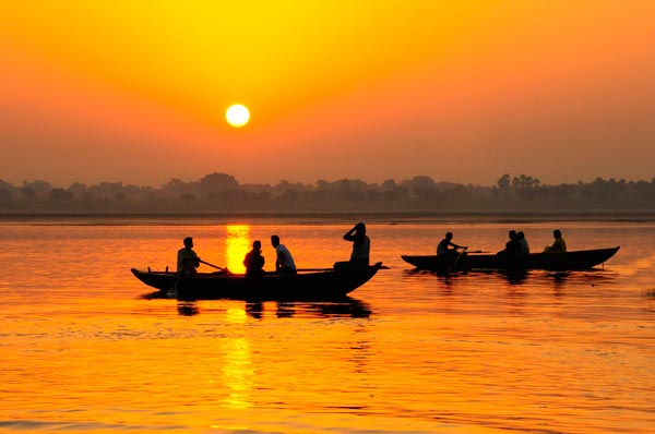 Boote am Ganges